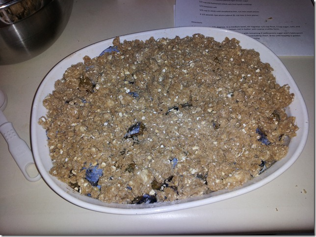 Plum Oatmeal Crisp Goes Well With Birthday Cake! - Grow With Me In My ...
