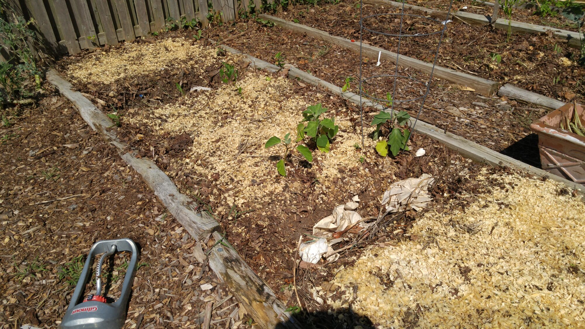 Summer garden cleanup and fall planting with trench composting ...