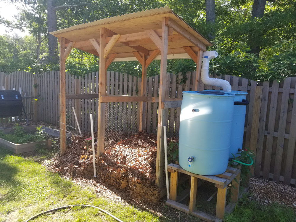 Compost and rainbarrel construction project